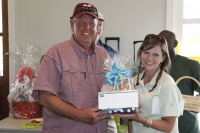 Mike Smith, Staffing Solutions wins Raffle Prize